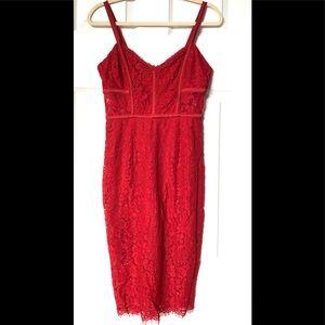 EXPRESS red lace Spaghetti strap dress. Size 4